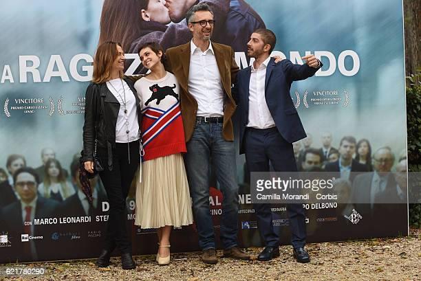 Stefania Montorsi Sara Serraiocco Marco Danieli and Michele Riondino attend a photocall for 'La Ragazza Del Mondo' on November 8 2016 in Rome Italy