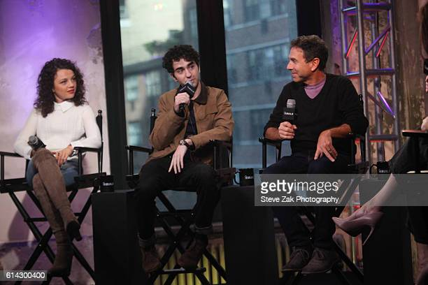 Stefania Owen Alex Wolff and James Sadwith attend Build Series to discuss their new movie 'Coming Through The Rye' at AOL HQ on October 13 2016 in...