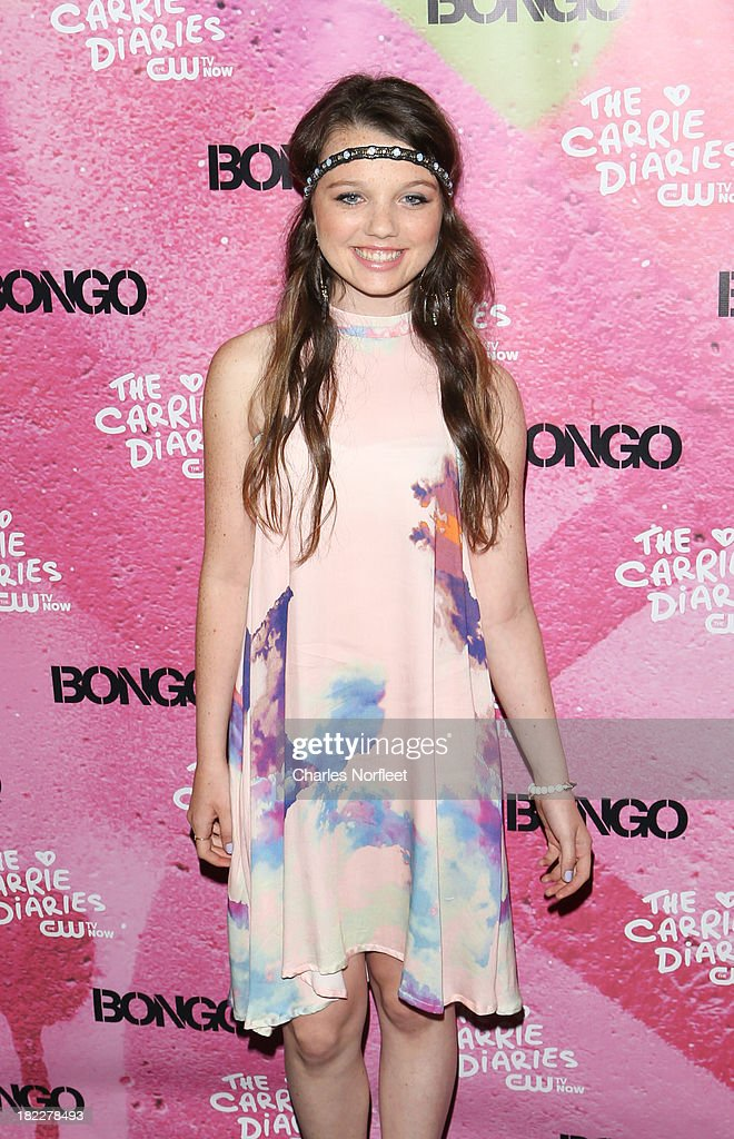 Stefania Owen attends 'The Carrie Diaries' Season Two Premiere Party hosted By Bongo September 28, 2013 in New York, United States.