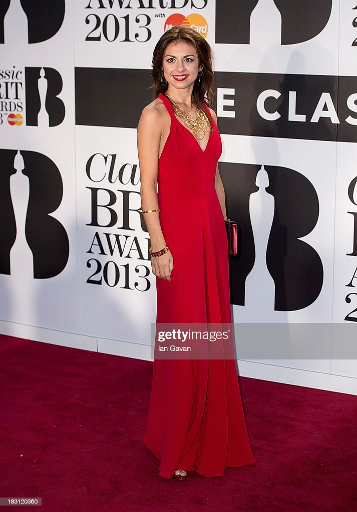 Stefania Passamonte attends the Classic BRIT Awards 2013 at Royal Albert Hall on October 2, 2013 in London, England.