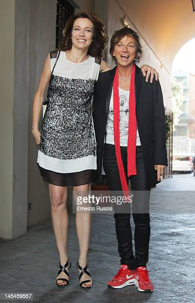 Stefania Rocca and Gianna Nannini attend the Simpatia Award at Campidoglio on May 30 2012 in Rome Italy
