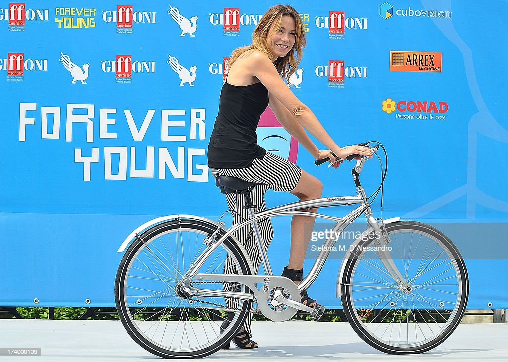 Stefania Rocca attends 2013 Giffoni Film Festival photocall on July 19, 2013 in Giffoni Valle Piana, Italy.
