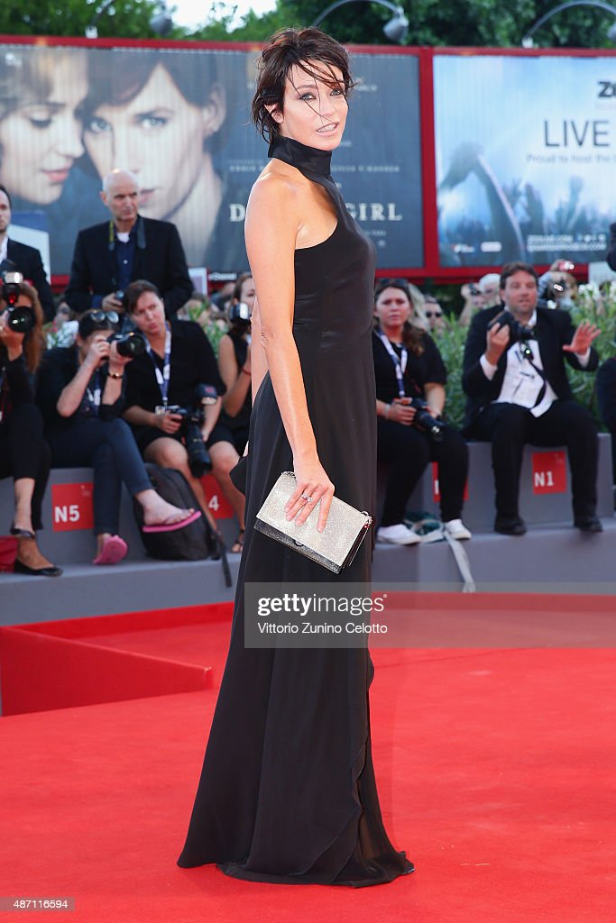 Stefania Rocca attends a premiere for 'A Bigger Splash' during the 72nd Venice Film Festival at Sala Grande on September 6 2015 in Venice Italy