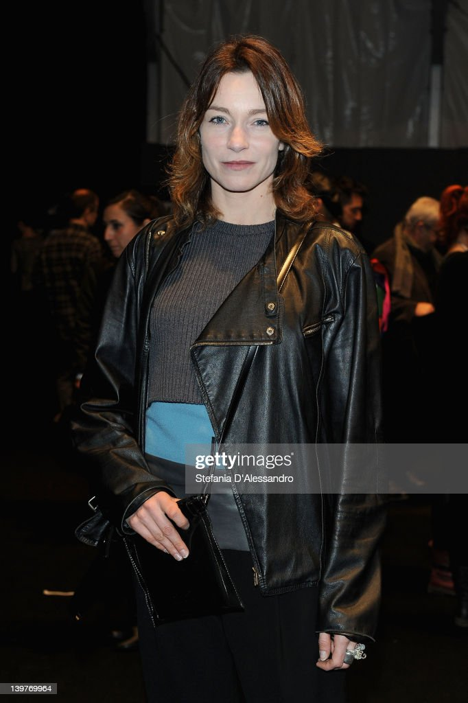 Stefania Rocca attends the CNC Costume National Autumn/Winter 2012/2013 fashion show as part of Milan Womenswear Fashion Week on February 24 2012 in...