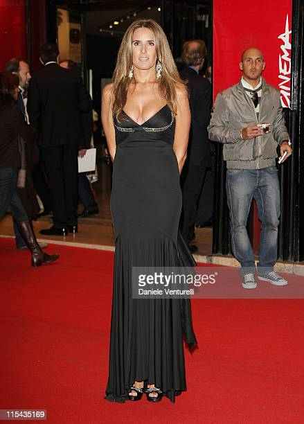 Stefania Rocca attends the Opening Ceremony Concert and Tribute To Sophia Loren during Day 1 of the 2nd Rome Film Festival on October 18 2007 in Rome...