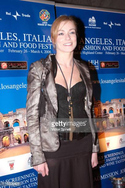 Stefania Rocca during The 2006 Italian Film Fashion and Food Fest Opening Night in Los Angeles California United States