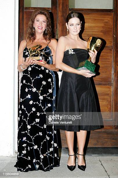Stefania Sandrelli winner of the Golden Lion for Lifetime Achievement and Giovanna Mezzogiorno winner of the Coppa Volpi as Best Actress