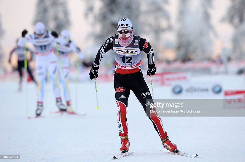 Stefanie Boehler of Germany competes in the women 10km free handicap start during the FIS World Cup Cross Country Skiing on November 28, 2010, in Kuusamo, Finland.
