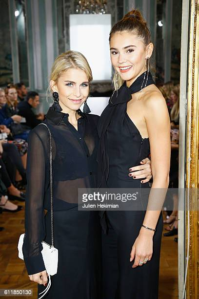 Stefanie Giesinger and Caroline Daur attend the Kaviar Gauche show as part of the Paris Fashion Week Womenswear Spring/Summer 2017 on October 1 2016...