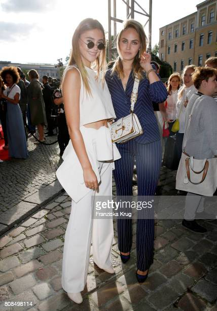 Stefanie Giesinger and Elena Carriere attend the Marc Cain Fashion Show Spring/Summer 2018 at ewerk on July 4 2017 in Berlin Germany