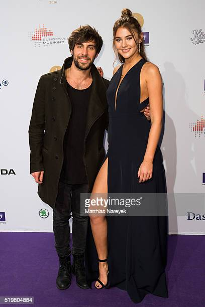Stefanie Giesinger and Max Giesinger attend the Echo Award 2016 on April 7 2016 in Berlin Germany