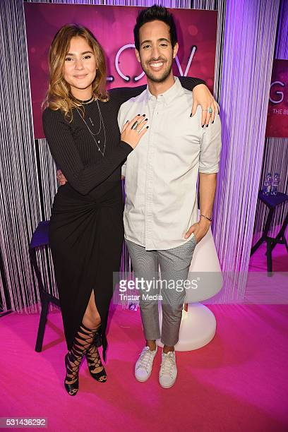 Stefanie Giesinger and Sami Slimani attend the 'GLOW The Beauty Convention' on May 14 2016 in Stuttgart Germany