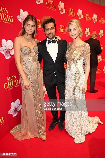Stefanie Giesinger and Samuel Sohebi wearing a dress by Samuel Sohebi the Mon Cheri Barbara Tag 2015 at Postpalast on December 4 2015 in Munich...