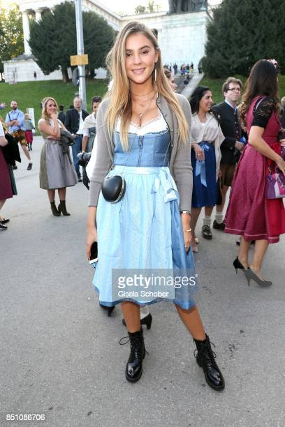 Stefanie Giesinger at the 'Madlwiesn' event during the Oktoberfest at Theresienwiese on September 21 2017 in Munich Germany