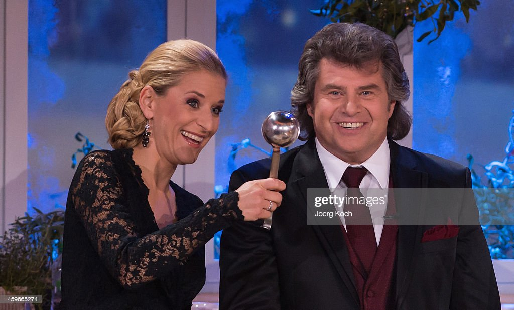 Stefanie Hertel and Andy Borg attend the taping of the TV show 'Heiligabend mit Carmen Nebel' on November 27 2014 in Munich Germany