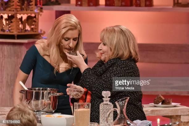 Stefanie Hertel and Angelika Mann during the Stefanie Hertel Show 'Die grosse Show der Weihnachtslieder' on November 17 2017 in Suhl Germany