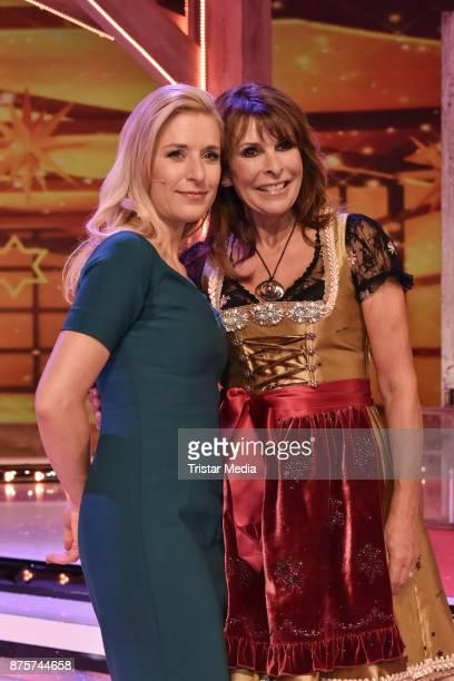 Stefanie Hertel and Ireen Sheer during the Stefanie Hertel Show 'Die grosse Show der Weihnachtslieder' on November 17 2017 in Suhl Germany