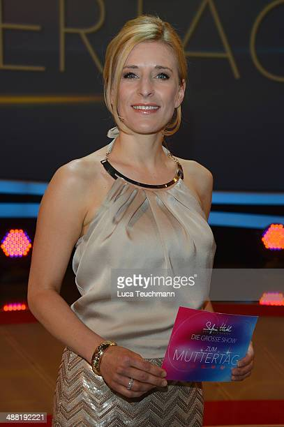 Stefanie Hertel attends 'Stefanie Hertel Die grosse Show zum Muttertag' Rehearsal on May 4 2014 in Altenburg Germany