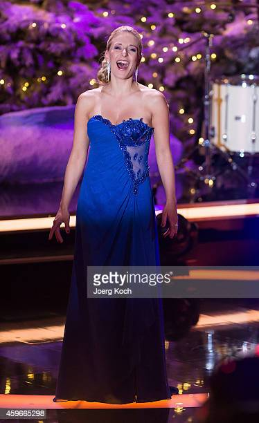 Stefanie Hertel attends the taping of the TV show 'Heiligabend mit Carmen Nebel' on November 27 2014 in Munich Germany