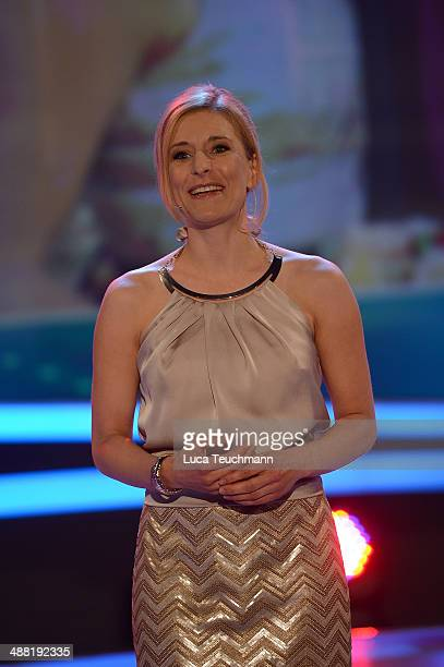 Stefanie Hertel performs during 'Stefanie Hertel Die grosse Show zum Muttertag' Rehearsal on May 4 2014 in Altenburg Germany