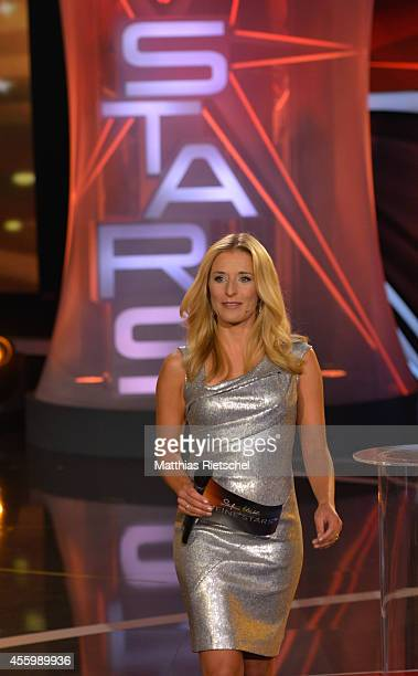 Stefanie Hertel performs during the rehearsal of the tv show 'Stefanie Hertel Meine Stars' on September 23 2014 in Zwickau Germany