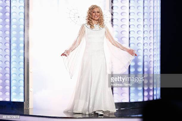 Stefanie Hertel performs during the 'Willkommen bei Carmen Nebel' show at Volkswagen Halle on November 23 2013 in Braunschweig Germany