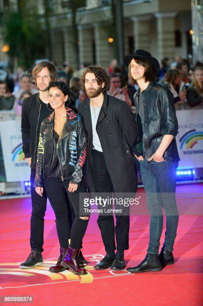 Stefanie Kloss and her band 'Silbermond' attend the Radio Regenbogen Award 2017 at Europapark on April 7 2017 in Rust Germany