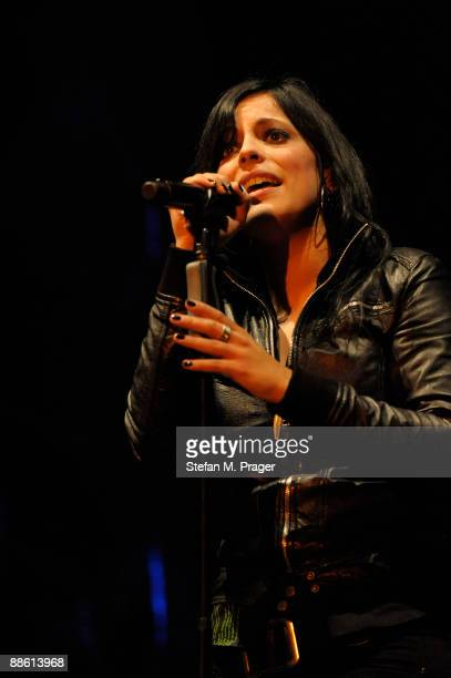Stefanie Kloss of Silbermond performs on stage at Zenith on May 13 2009 in Munich Germany