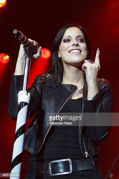 Stefanie Kloss of the band Silbermond performs live on stage at Stadthalle on Mai 15 2013 in Graz Austria
