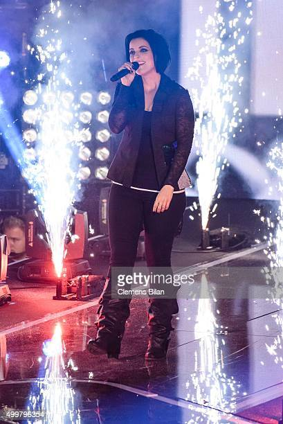 Stefanie Kloss performs during the The Voice Of Germany 1st Live Show on December 3 2015 in Berlin Germany