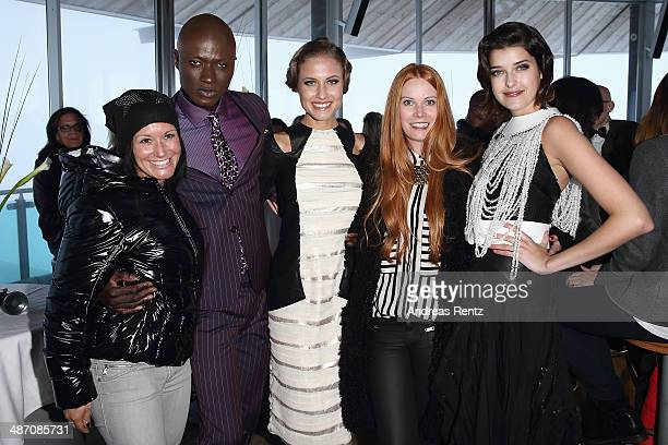 Stefanie Koehle Alena Gerber Papis Loveday designer Rebekka Ruetz and Marie Nasemann attend the Rebekka Ruetz Fashion Show at Top Mountain Star on...
