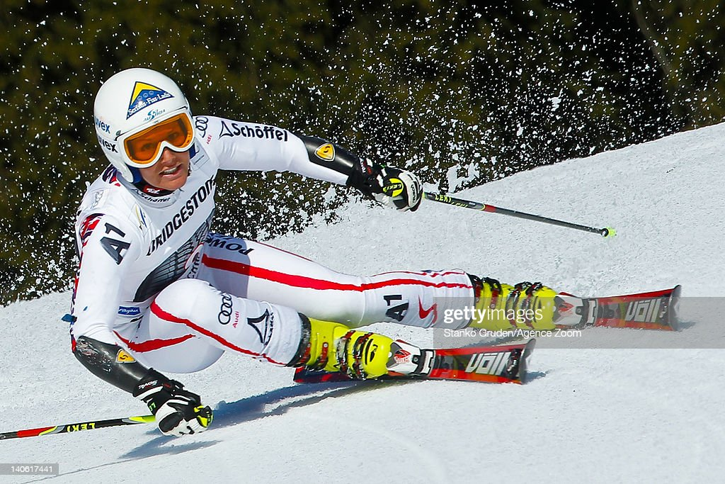 <a gi-track='captionPersonalityLinkClicked' href=/galleries/search?phrase=Stefanie+Koehle&family=editorial&specificpeople=5589543 ng-click='$event.stopPropagation()'>Stefanie Koehle</a> of Austria competes during the Audi FIS Alpine Ski World Cup Women's Giant Slalom on March 3, 2012 in Ofterschwang, Germany.