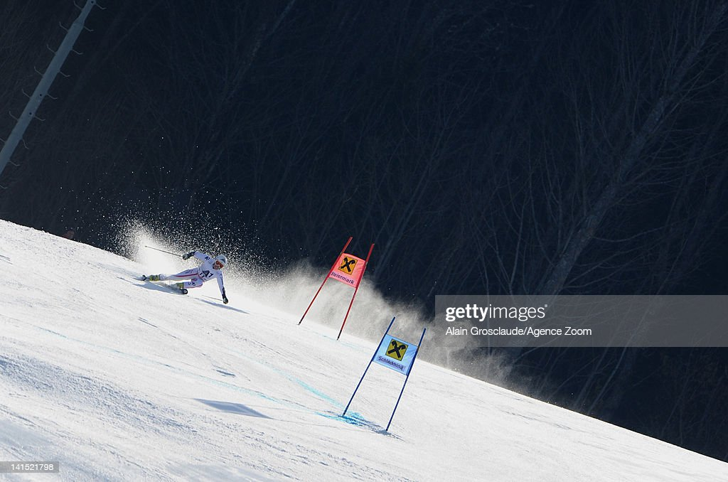 <a gi-track='captionPersonalityLinkClicked' href=/galleries/search?phrase=Stefanie+Koehle&family=editorial&specificpeople=5589543 ng-click='$event.stopPropagation()'>Stefanie Koehle</a> of Austria competes during the Audi FIS Alpine Ski World Cup Women's Giant Slalom on March 18, 2012 in Schladming, Austria.