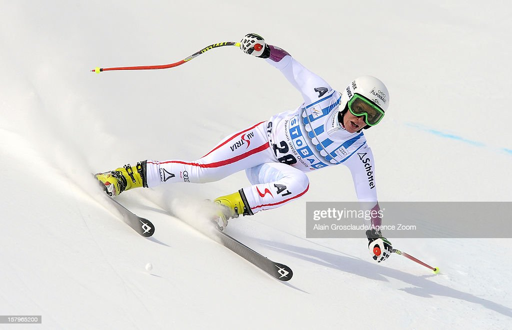 <a gi-track='captionPersonalityLinkClicked' href=/galleries/search?phrase=Stefanie+Koehle&family=editorial&specificpeople=5589543 ng-click='$event.stopPropagation()'>Stefanie Koehle</a> of Austria competes during the Audi FIS Alpine Ski World Cup Women's SuperG on December 08, 2012 in St. Moritz, Switzerland.