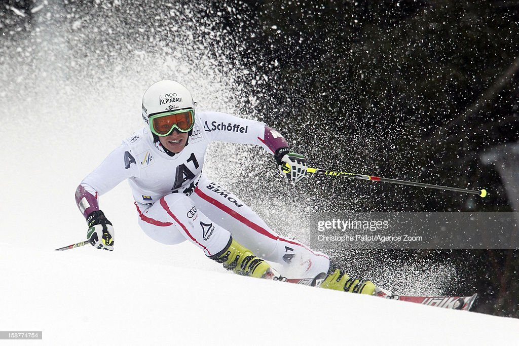 <a gi-track='captionPersonalityLinkClicked' href=/galleries/search?phrase=Stefanie+Koehle&family=editorial&specificpeople=5589543 ng-click='$event.stopPropagation()'>Stefanie Koehle</a> of Austria competes during the Audi FIS Alpine Ski World Cup Women's Giant Slalom on December 28, 2012 in Semmering, Austria.