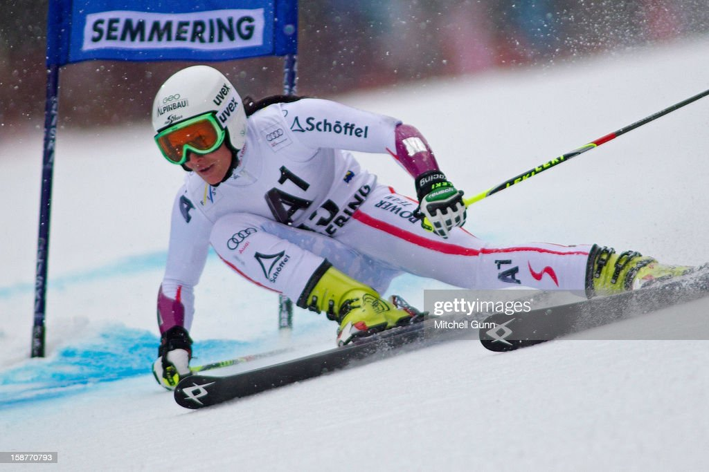 Stefanie Koehle of Austria competes in the Audi FIS Alpine Ski World Cup Giant Slalom Race on December 28, 2012 in Semmering, Austria.