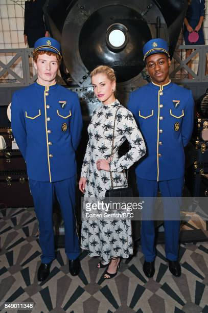 Stefanie Martini attends the Aspinal of London presentation during London Fashion Week September 2017 on September 18 2017 in London England