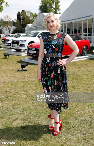 Stefanie Martini attends the Audi Polo Challenge at Coworth Park on May 7 2017 in London United Kingdom