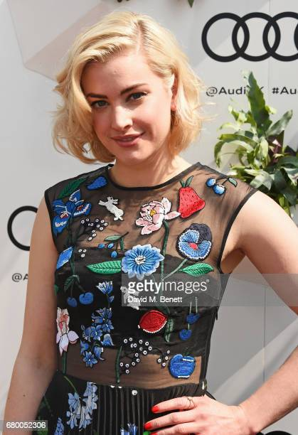 Stefanie Martini attends the Audi Polo Challenge at Coworth Park on May 7 2017 in Ascot United Kingdom