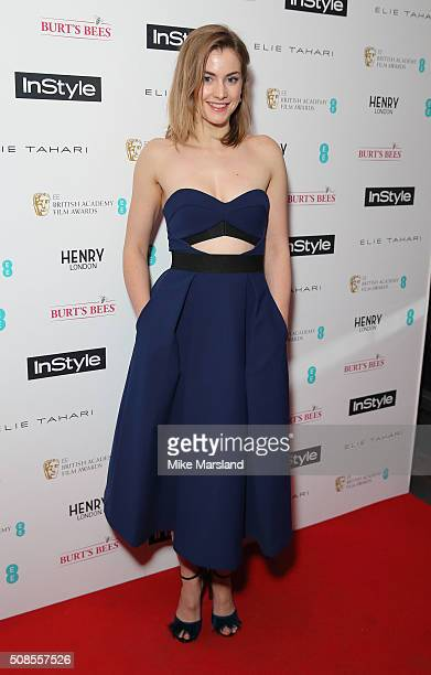 Stefanie Martini attends the InStyle EE Rising Star PreBAFTA Party at 100 Wardour Street on February 4 2016 in London England