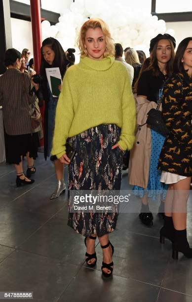 Stefanie Martini attends the Markus Lupfer SS18 presentation during London Fashion Week September 2017 on September 16 2017 in London United Kingdom