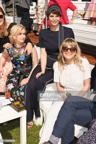 Stefanie Martini Gemma Arterton and Hannah Arterton attend the Audi Polo Challenge at Coworth Park on May 7 2017 in Ascot United Kingdom