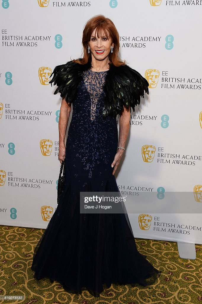 <a gi-track='captionPersonalityLinkClicked' href=/galleries/search?phrase=Stefanie+Powers&family=editorial&specificpeople=632257 ng-click='$event.stopPropagation()'>Stefanie Powers</a> attends the official After Party Dinner for the EE British Academy Film Awards at The Grosvenor House Hotel on February 14, 2016 in London, England.