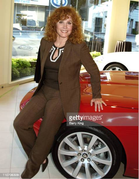 Stefanie Powers during Stefanie Powers Hosts Jaguar Conservation Trust Event at Hornburg Jaguar Inside at Hornburg Jaguar in Beverly Hills CA United...
