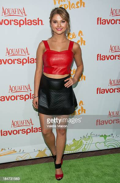 Stefanie Scott arrives at Aquafina FlavorSplash Launch Party With Austin Mahone Nick Cannon at Sony Pictures Studios on October 15 2013 in Culver...