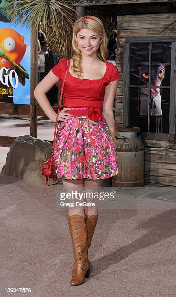 Stefanie Scott arrives at the Los Angeles Premiere of 'Rango' at the Regency Village Theaer on February 14 2011 in Westwood California