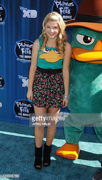 Stefanie Scott attends 'Phineas And Ferb Across The 2nd Dimension' at the El Capitan Theatre on August 3 2011 in Hollywood California