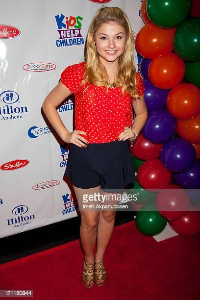 Stefanie Scott attends the Kids Help Children Charity Event Benefiting CHOC Children's Hospital at Anaheim Hilton Hotel on August 14 2011 in Anaheim...