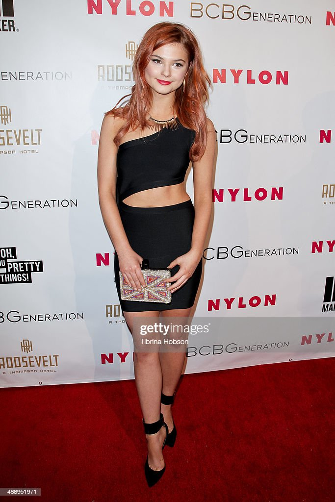 Stefanie Scott attends the Nylon Magazine May young Hollywood issue party at Tropicana Bar at The Hollywood Rooselvelt Hotel on May 8, 2014 in Hollywood, California.