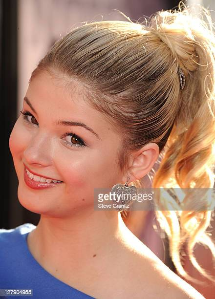 Stefanie Scott attends the 'Real Steel' Los Angeles Premiere at Gibson Amphitheatre on October 2 2011 in Universal City California